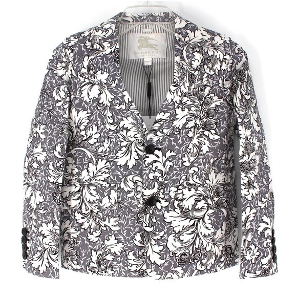 BURBERRY Children Floral Grey Blazer size 10 Y NWT